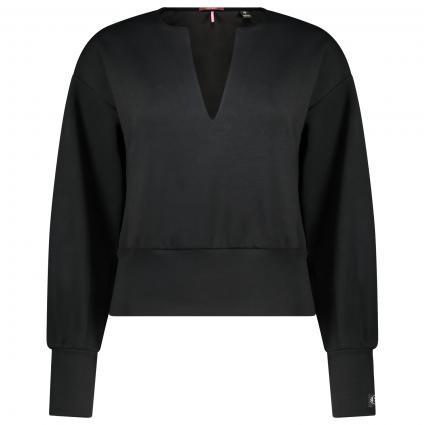 Sweatshirt mit V-Ausschnitt  schwarz (0008 black) | XL