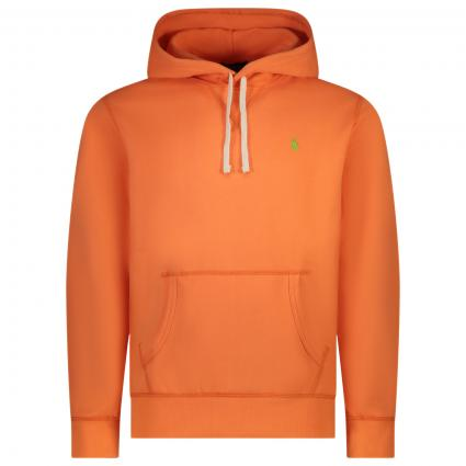 Sweatshirt mit frontalem Label-Print orange (028 CLASSIC PEACH) | XS