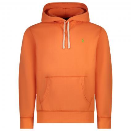 Hoodie mit frontaler Label-Stickerei orange (028 CLASSIC PEACH) | XS