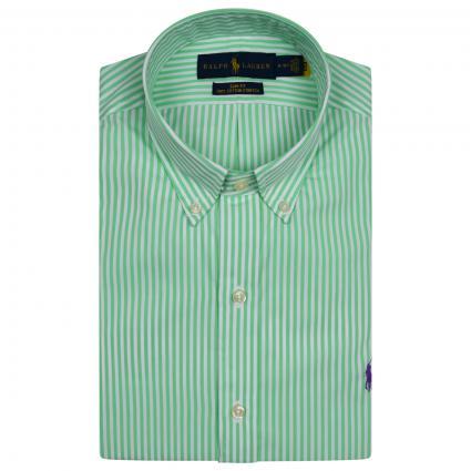 Slim-Fit Button Down Hemd mit All-Over Streifen Muster  grün (006 LIME) | M