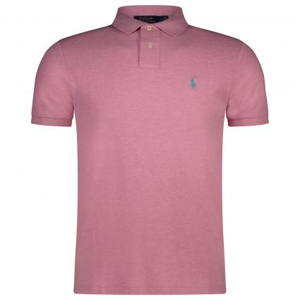 Slim-Fit Polohemd mit Label-Stickerei  pink (210 HAMPTON PINK) | XL