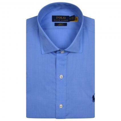 Slim-Fit Hemd mit Label-Stickerei  blau (003 MEDIUM BLUE) | 43