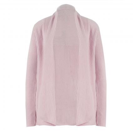 Offene Strickjacke aus Cashmere rose (rose) | L