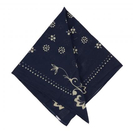 Bandana mit All-Over Muster marine (blue) | 0