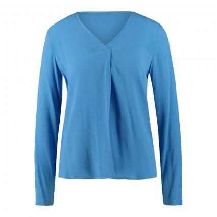 Blusenshirt mit Falten-Detail blau (624 cornflower) | M