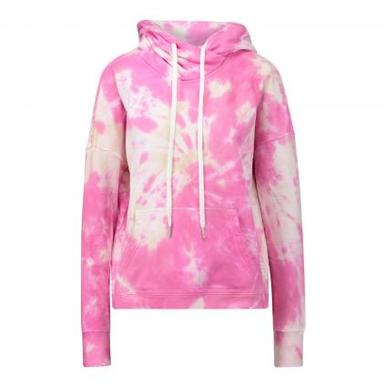Hoodie mit All-Over Batik Muster pink (3216 pink) | XL
