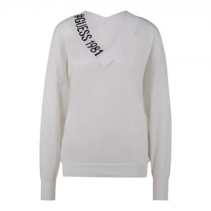 Pullover 'Dalia' in Colour-Blocking weiss (TWHT TRUE WHITE A000) | S