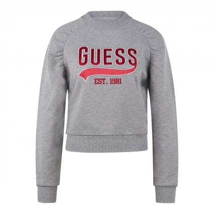 Pullover mit Logo-Stickerei grau (SHGY STONE HEATHER G) | XS