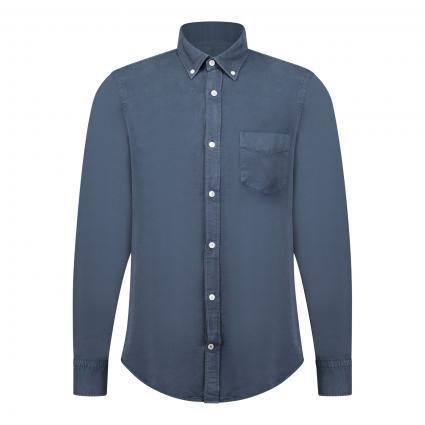 Slim-Fit Hemd mit Brusttasche marine (200 navy blue) | S