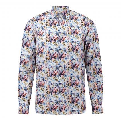 Slim-Fit Hemd mit floralem Muster blau (67 Blue) | 42