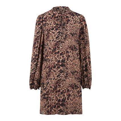 Tunika-Kleid mit All-Over Leo Druck beige (B677 BEIGE ANIMALIER) | 40