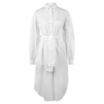 Oversize Hemdblusenkleid mit Brusttasche weiss (UA2 weiß) | 40