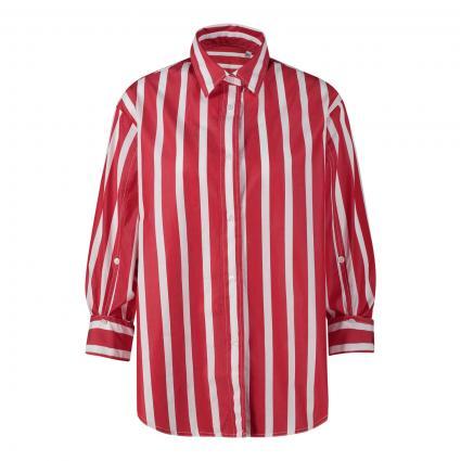 Bluse mit breitem Streifenmuster rot (8349/35 rot) | 36