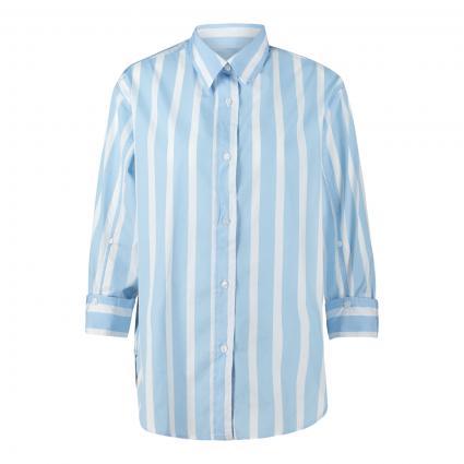 Bluse mit breitem Streifenmuster blau (8348/13 bleu) | 48