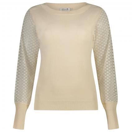 Pullover mit Musterung  beige (BEIGE) | S