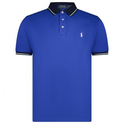 Slim-Fit Polohemd mit Label-Stickerei  blau (006 RUGBY ROYAL) | XL