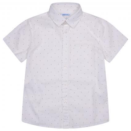 Kurzarm Hemd mit Punkten weiss (089 White)   110