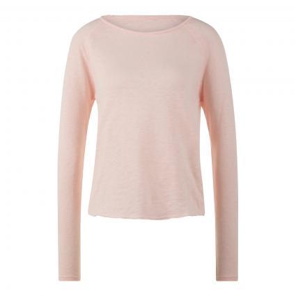 Langarmshirt mit offenen Saumkanten rose (ROSEE VINTAGE) | M