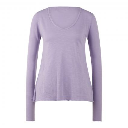 Langarmshirt mit V-Ausschnitt lila (MAUVE VINTAGE)   L