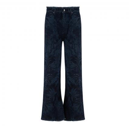 Jeans mit Floralem-Druck  marine (395 midnight blue) | 42
