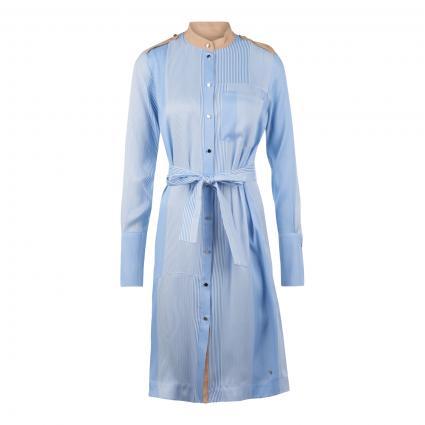 Hemdblusenkleid 'Rory' mit Bindegürtel blau (477 BEL AIR BLUE)   S
