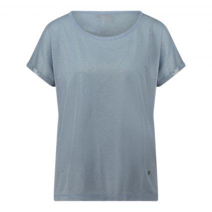 Oversize-Shirt 'Kay' mit Glitzerdetails blau (477 BEL AIR BLUE) | XL