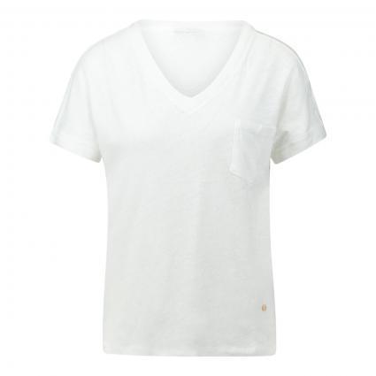 T-Shirt 'Maya' mit V-Ausschnitt weiss (101 WHITE) | L