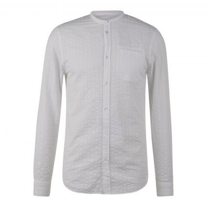 Hemd mit Strukturmuster weiss (000 white) | XL