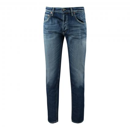Tapered-Fit Jeans 'Brighton' blau (800 md blue) | 35