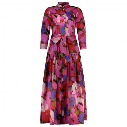 Hemdblusenkleid mit floralem Muster rot (FA) | 34