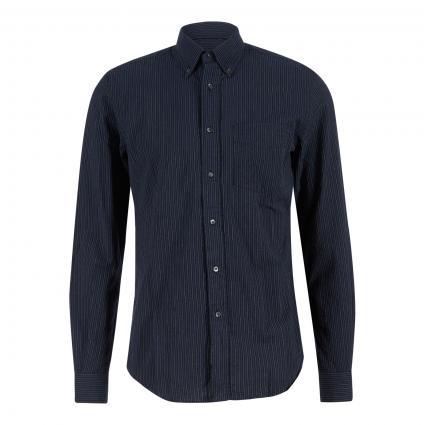 Regular-Fit Hemd mit Button-Down Kragen marine (26098 Stripe navy) | XL