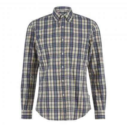 Regular-Fit Hemd mit Button-Down Kragen blau (57042 Karo blau) | M