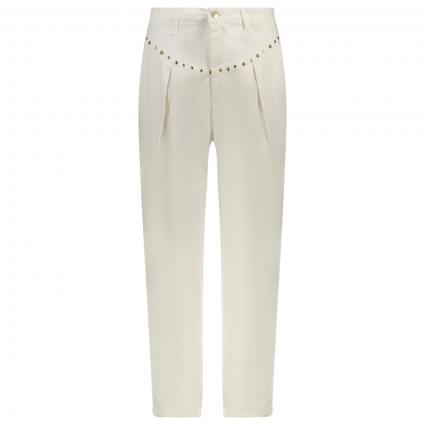Ballon-Fit Jeans Hose mit Steinchen-Besatz  weiss (60725) | XS