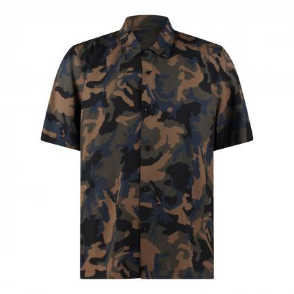 Kurzarm-Hemd im Militär-Look oliv (635 camo) | XL