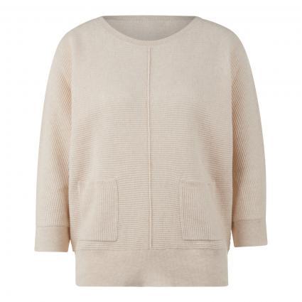Pullover mit Strukturmuster beige (1386 ivory) | 42