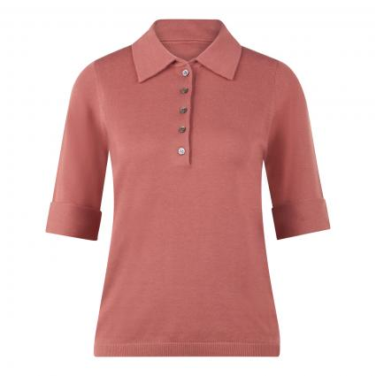 Kurzarm Pullover in Polo-Optik rot (1384 cinnamon) | 34