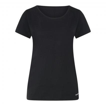 T-Shirt mit geschnittenen Kanten schwarz (098 BLACK) | S
