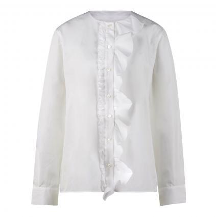 Bluse 'Fiorella' mit Volant weiss (100 optical white)   38