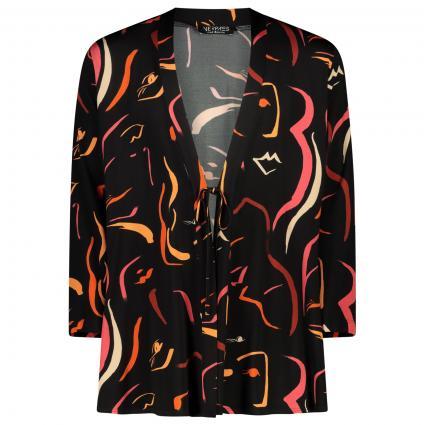 Jacke vorne zum Binden schwarz (09 schwarz) | 50
