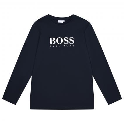 T-Shirt mit Frontprint marine (849 BLEU CARGO) | 152
