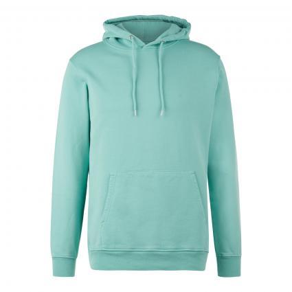 Sweatshirt 'Hood' mit Kapuze grün (faded mint) | S