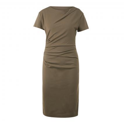 Kleid 'Izlo' mit Raffung an der Taille oliv (4Z3 - SEA TURTLE) | 38
