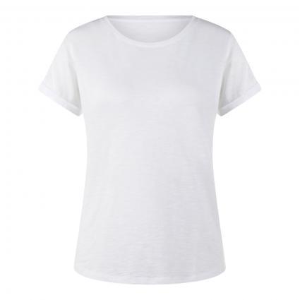 Regular-Fit T-Shirt mit Rundhalsausschnitt  weiss (100 white) | L