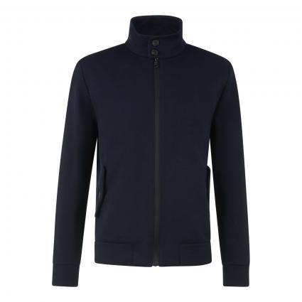 Jacke mit Stehkragen aus Baumwolle marine (359 navy ) | 48