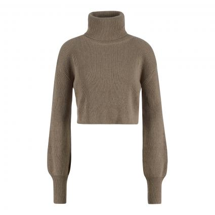 Rollkragenpullover in Cropped-Optik beige (BEIGE) | XL