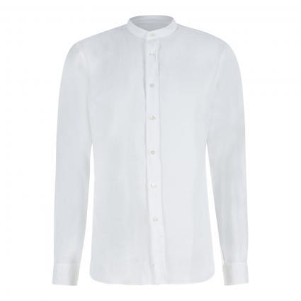 Hemd mit Stehkragen aus Leinen weiss (85072 weiß)   39