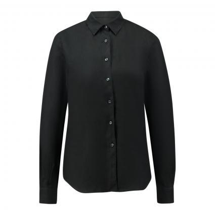 Bluse aus Leinen schwarz (85241 nero)   38