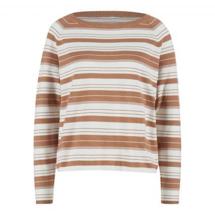Pullover mit Streifenmuster camel (712 milchkaffee ecru) | XL