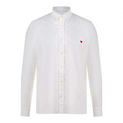 Slim-Fit Hemd 'The Icon Shirt Heart' weiss (1000 white) | XL
