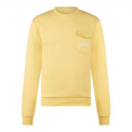 Sweatshirt 'The Pocket Sweat Gelato' gelb (2200 sunshine)   XL